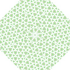 Sweet Doodle Pattern Green Folding Umbrellas