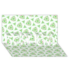 Sweet Doodle Pattern Green Best Bro 3d Greeting Card (8x4)