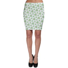 Sweet Doodle Pattern Green Bodycon Skirts
