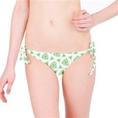 Sweet Doodle Pattern Green Bikini Bottoms