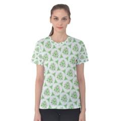 Sweet Doodle Pattern Green Women s Cotton Tees