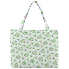 Sweet Doodle Pattern Green Tiny Tote Bags