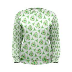Sweet Doodle Pattern Green Women s Sweatshirts