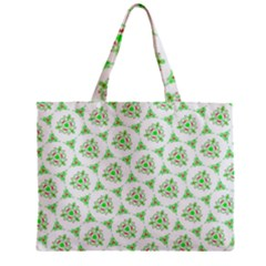 Sweet Doodle Pattern Green Zipper Tiny Tote Bags