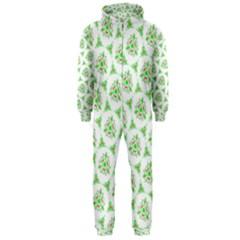 Sweet Doodle Pattern Green Hooded Jumpsuit (men)