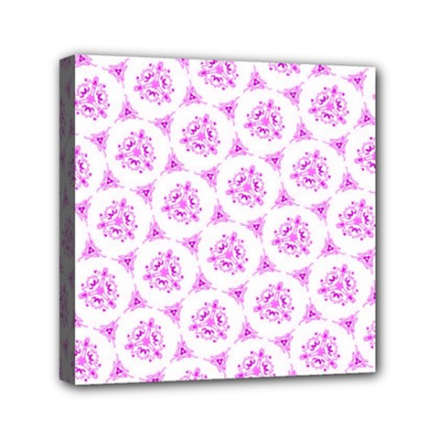 Sweet Doodle Pattern Pink Mini Canvas 6  x 6