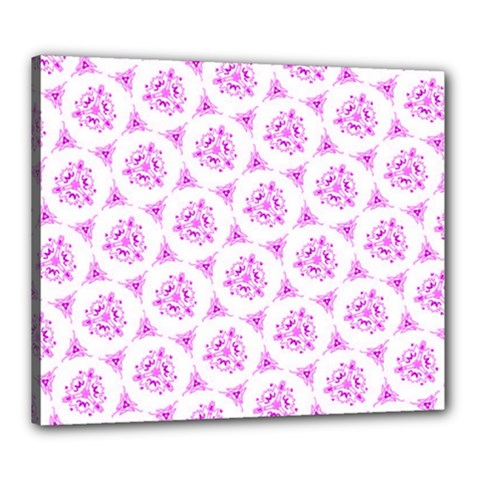 Sweet Doodle Pattern Pink Canvas 24  X 20