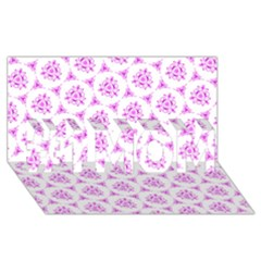 Sweet Doodle Pattern Pink #1 MOM 3D Greeting Cards (8x4)