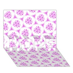 Sweet Doodle Pattern Pink HOPE 3D Greeting Card (7x5)