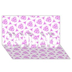 Sweet Doodle Pattern Pink #1 Dad 3d Greeting Card (8x4)
