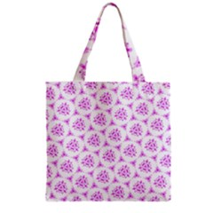 Sweet Doodle Pattern Pink Grocery Tote Bags