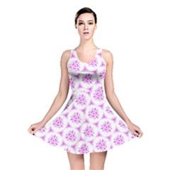 Sweet Doodle Pattern Pink Reversible Skater Dresses