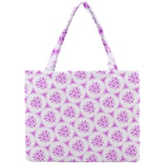Sweet Doodle Pattern Pink Tiny Tote Bags