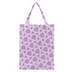 Sweet Doodle Pattern Pink Classic Tote Bags