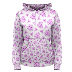 Sweet Doodle Pattern Pink Women s Pullover Hoodies