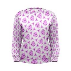 Sweet Doodle Pattern Pink Women s Sweatshirts