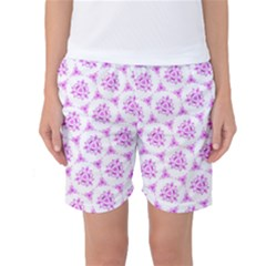 Sweet Doodle Pattern Pink Women s Basketball Shorts