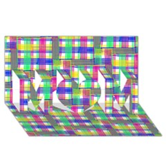 Doodle Pattern Freedom  MOM 3D Greeting Card (8x4)