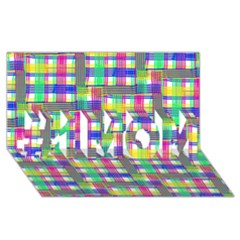 Doodle Pattern Freedom  #1 Mom 3d Greeting Cards (8x4)