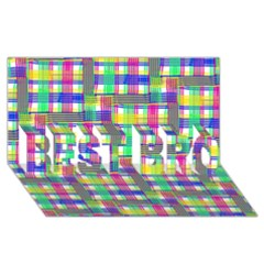 Doodle Pattern Freedom  BEST BRO 3D Greeting Card (8x4)