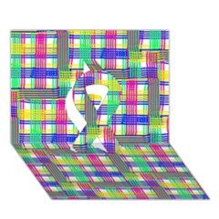 Doodle Pattern Freedom  Ribbon 3D Greeting Card (7x5)