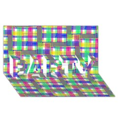 Doodle Pattern Freedom  PARTY 3D Greeting Card (8x4)