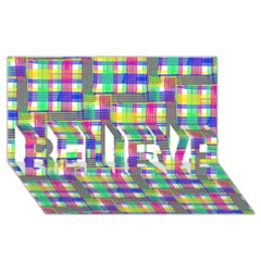 Doodle Pattern Freedom  Believe 3d Greeting Card (8x4)