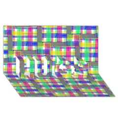 Doodle Pattern Freedom  Hugs 3d Greeting Card (8x4)