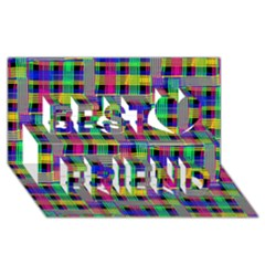 Doodle Pattern Freedom Black Best Friends 3d Greeting Card (8x4)