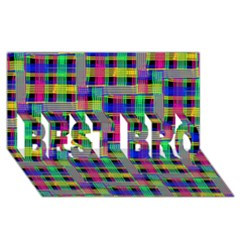 Doodle Pattern Freedom Black Best Bro 3d Greeting Card (8x4)