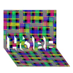 Doodle Pattern Freedom Black Hope 3d Greeting Card (7x5)