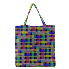 Doodle Pattern Freedom Black Grocery Tote Bags