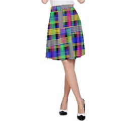 Doodle Pattern Freedom Black A-Line Skirts