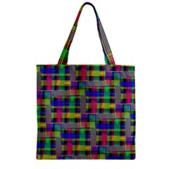 Doodle Pattern Freedom Black Zipper Grocery Tote Bags