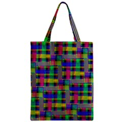 Doodle Pattern Freedom Black Zipper Classic Tote Bags
