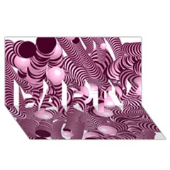 Doodle Fun Pink Party 3d Greeting Card (8x4)