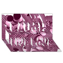 Doodle Fun Pink Laugh Live Love 3d Greeting Card (8x4)