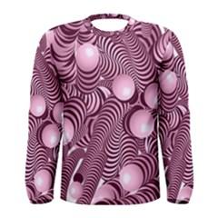 Doodle Fun Pink Men s Long Sleeve T-shirts