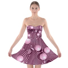 Doodle Fun Pink Strapless Bra Top Dress