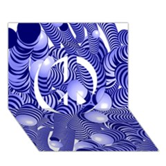 Doodle Fun Blue Peace Sign 3D Greeting Card (7x5)