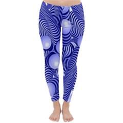 Doodle Fun Blue Winter Leggings