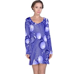 Doodle Fun Blue Long Sleeve Nightdresses