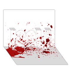 Blood Splatter 1 I Love You 3D Greeting Card (7x5)