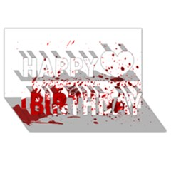 Blood Splatter 1 Happy Birthday 3d Greeting Card (8x4)