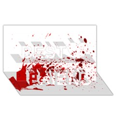 Blood Splatter 1 Best Friends 3D Greeting Card (8x4)