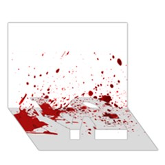 Blood Splatter 1 LOVE Bottom 3D Greeting Card (7x5)
