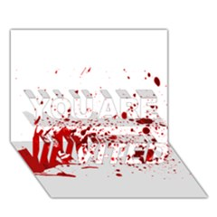 Blood Splatter 1 YOU ARE INVITED 3D Greeting Card (7x5)