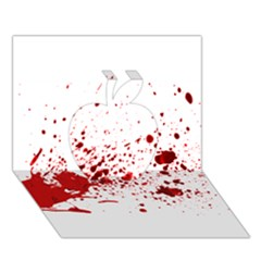 Blood Splatter 1 Apple 3D Greeting Card (7x5)