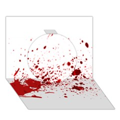 Blood Splatter 1 Circle 3D Greeting Card (7x5)