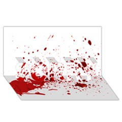 Blood Splatter 1 SORRY 3D Greeting Card (8x4)